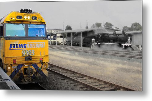 Pacific National 9303 02 Trains Metal Print featuring the photograph Pacific National 9303 02 by Kevin Chippindall