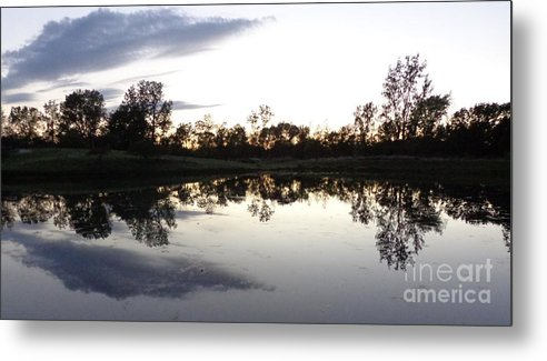 Could Metal Print featuring the photograph Reflective Pond by Brian Schell