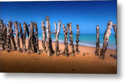 Saint Malo Metal Print featuring the photograph Saint Malo Beach by Martin Velebil