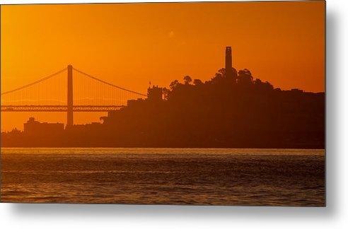 Bay Bridge Metal Print featuring the photograph San Francisco Sunrise by Alexis Birkill