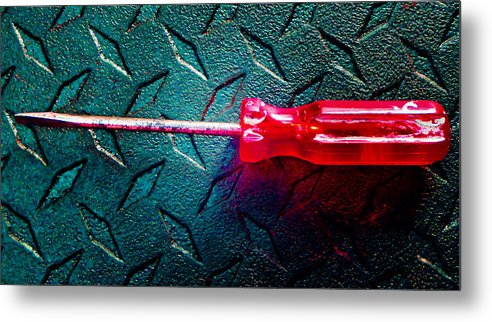 Hammer Metal Print featuring the photograph Screwdriver C by Laurie Tsemak