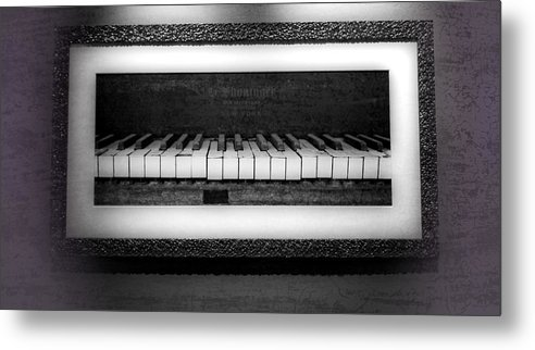 The Old Piano Metal Print featuring the photograph The Old Piano by Dan Sproul