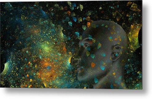 Fractal Metal Print featuring the digital art Universal Mind by Betsy Knapp