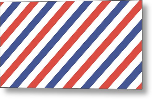 Vector Barber Pole Wallpaper Background Metal Print