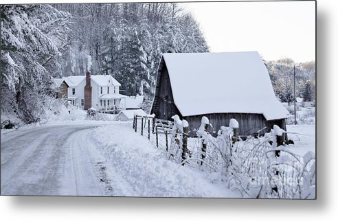 Virginia Metal Print featuring the photograph Winter In Virginia by Benanne Stiens