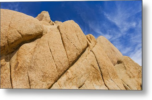 Horizontal Metal Print featuring the photograph Usa, California, Joshua Tree National Park, Rock Formations by Tetra Images
