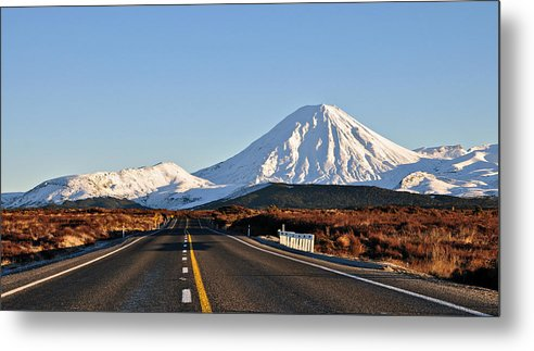 Horizontal Metal Print featuring the photograph Road To Mt Ngauruhoe by Steve Clancy Photography