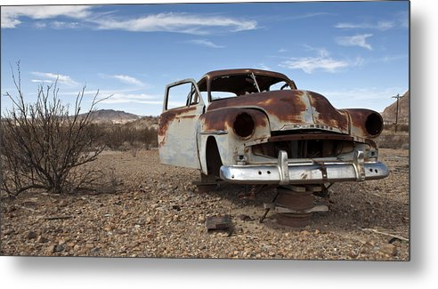 Photo Metal Print featuring the photograph Rusting Away 22 by Luc Novovitch