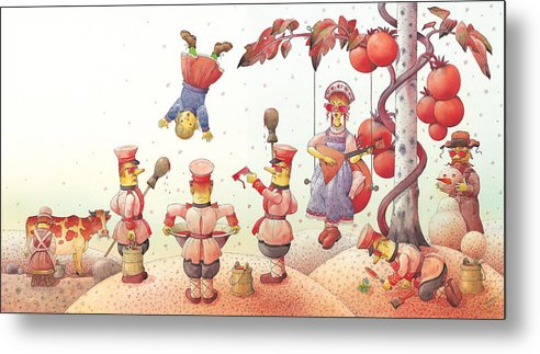 Red Communism Russia Metal Print featuring the painting Lisas Journey09 by Kestutis Kasparavicius
