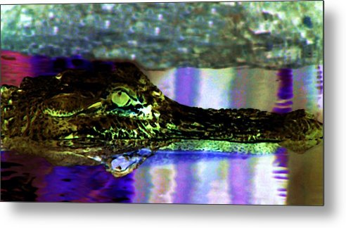 Alligator Metal Print featuring the digital art Green Machine by Kenna Westerman