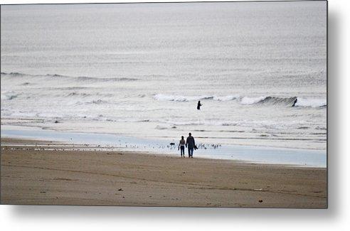 Manzanita Metal Print featuring the photograph A Walk On The Beach by Craig Perry-Ollila