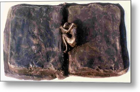 Bronze Metal Print featuring the sculpture An Unfinished Story by Rooma Mehra