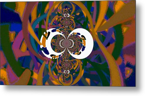 Digital Metal Print featuring the digital art Cloister by Thomas Smith