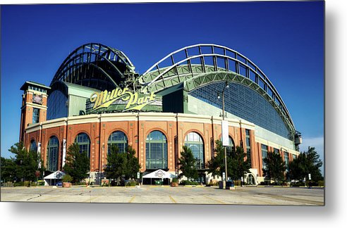 Milwaukee Metal Print featuring the photograph Miller Park - Milwaukee Wisconsin by Mountain Dreams