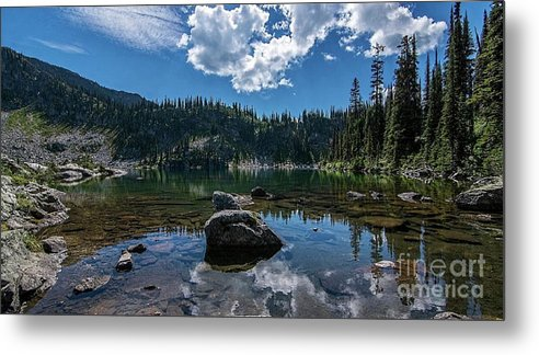 Small Lake Metal Print featuring the photograph Mountain Top Lake by Rod Jellison