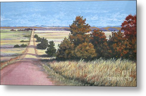 Nature Metal Print featuring the painting Moving On by Diane Ellingham