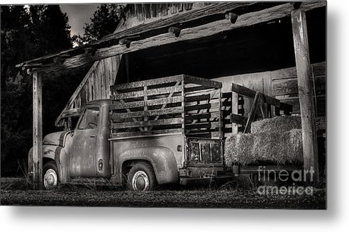 Scotopic Metal Print featuring the photograph Scotopic Vision 5 - The Barn by Pete Hellmann