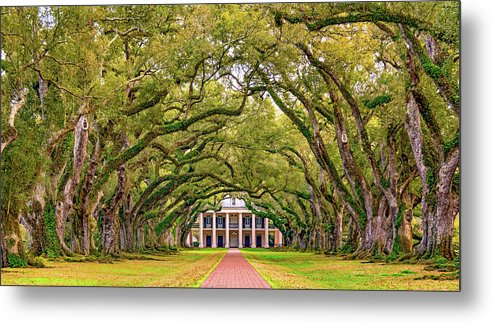 Oak Alley Plantation Metal Print featuring the photograph The Old South Version 3 by Steve Harrington