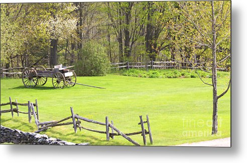 Spring Metal Print featuring the photograph Vermont Buck Board by Deborah Benoit
