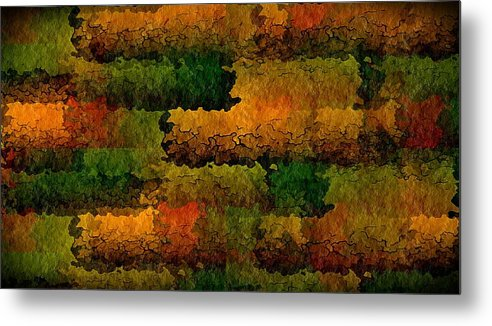 Abstract Metal Print featuring the digital art Warm Georgia Clay by Terry Mulligan
