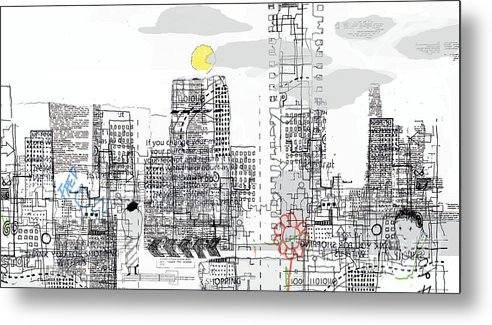 Line Metal Print featuring the digital art White City by Andy Mercer