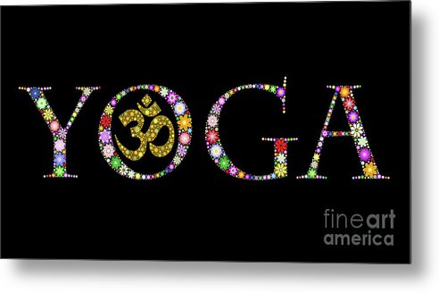 Yoga Metal Print featuring the photograph Yoga Aum by Tim Gainey