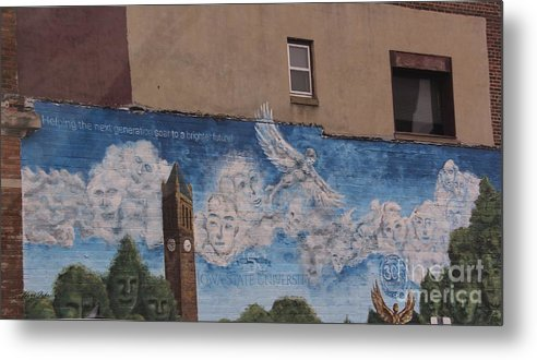 Murals Metal Print featuring the photograph Mural On The Building by Yumi Johnson