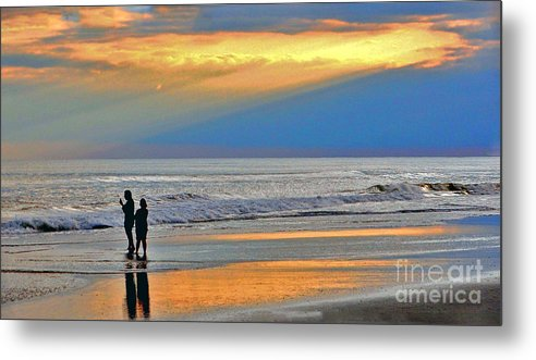 Ocean Metal Print featuring the photograph Can You Hear Me Now? by Lydia Holly