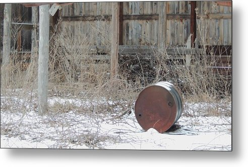 Old Rustic Barn And Barrel Metal Print featuring the photograph Barn #38 by Todd Sherlock