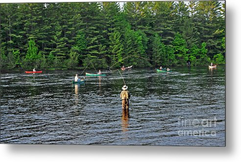 Fly Fishing Metal Print featuring the photograph Fly Fishing West Penobscot River Maine by Glenn Gordon