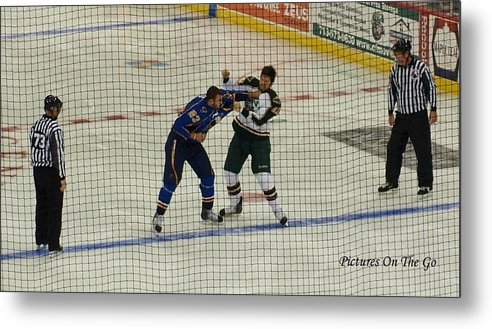 Hockey Metal Print featuring the photograph Hockey Fight by Max M Power