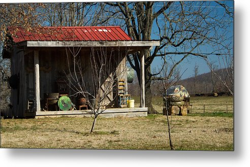 Mountain Metal Print featuring the photograph Mountain Cabin In Tennessee 1 by Douglas Barnett