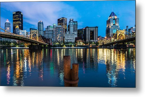Sunset Metal Print featuring the photograph Pittsburgh Blue Hour by Mauricio Fernandez