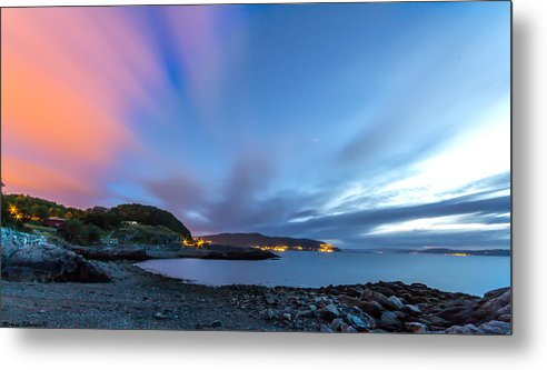 Blue Sky Metal Print featuring the photograph Red Running Clouds by Mohsen Khosravi