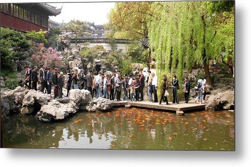 Yuyuan Garden Metal Print featuring the photograph Shanghai Yuyuan Garden by Sheryl Chapman Photography