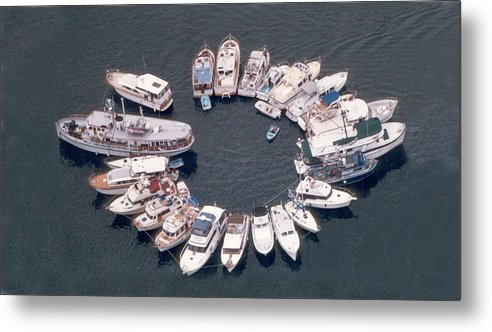 Yacht Portraits Metal Print featuring the photograph Wagonwheel Wedding Raftup by Jack Pumphrey