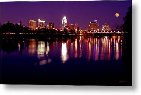 Cities Metal Print featuring the photograph Austin Sky Line In December 2004 by Lisa Spencer