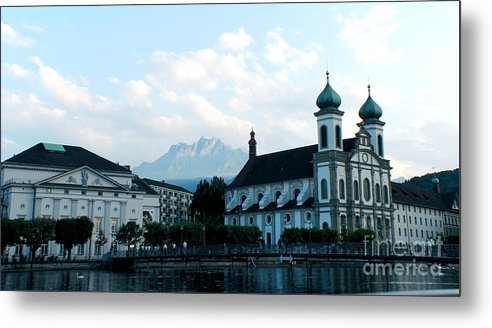 Church Metal Print featuring the photograph Church In Lucerne by Pravine Chester