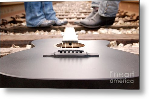 Guitar Metal Print featuring the photograph Country Music by Ione Starr