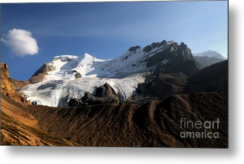 Mount Athabasca Metal Print featuring the photograph Mount Athabasca From The Columbia Icefields by Vivian Christopher