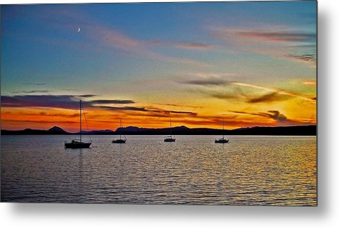 North America Metal Print featuring the photograph Sunset At Lake Memphremagog - Qc by Juergen Weiss