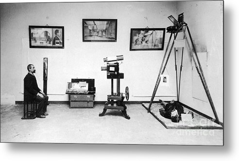 Science Metal Print featuring the photograph Surveillance Equipment, 19th Century by Science Source