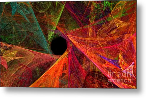 3d Metal Print featuring the digital art Wide Eye Color Delight Panorama by Andee Design