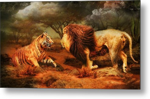 Lion Metal Print featuring the photograph No Mercy by Trudi Simmonds