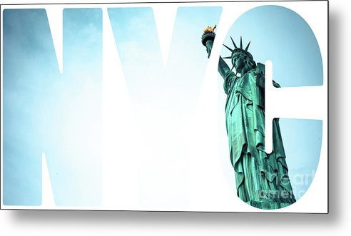 America Metal Print featuring the photograph The Statue Of Liberty At New York City by Mariusz Prusaczyk