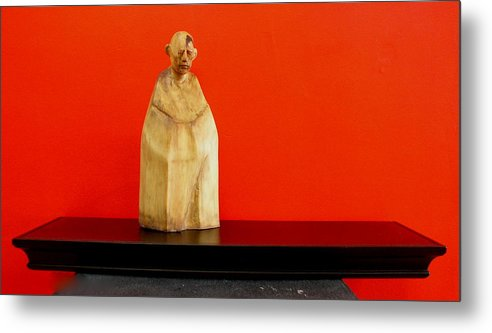 Figure Metal Print featuring the sculpture Untitle by Victor Amor