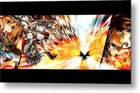 5 Touhou Hd S Metal Print featuring the digital art 5549 Touhou Hd S by Mery Moon