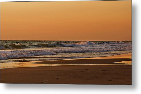 Beach Metal Print featuring the photograph After A Sunset by Sandy Keeton