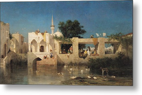 Cafe Metal Print featuring the painting Charles Emile De Tournemine by Cafe in Adalia