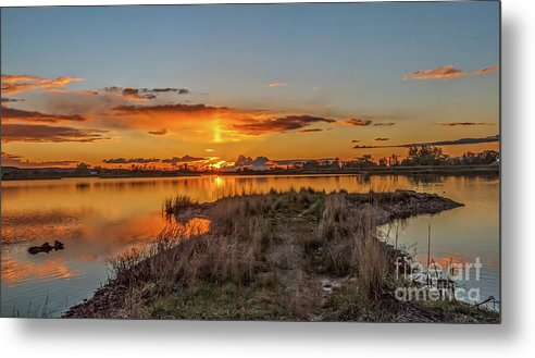 Reflections Metal Print featuring the photograph Evening Delight by Robert Bales